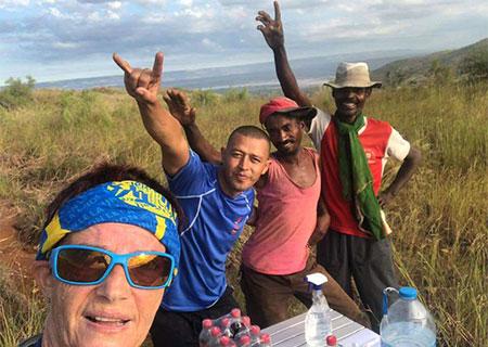 Ravitaillement trail de l'ile Rouge Madagascar