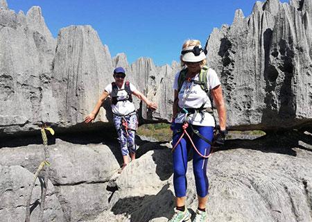 National park Bemaraha Red Island Race Madagascar